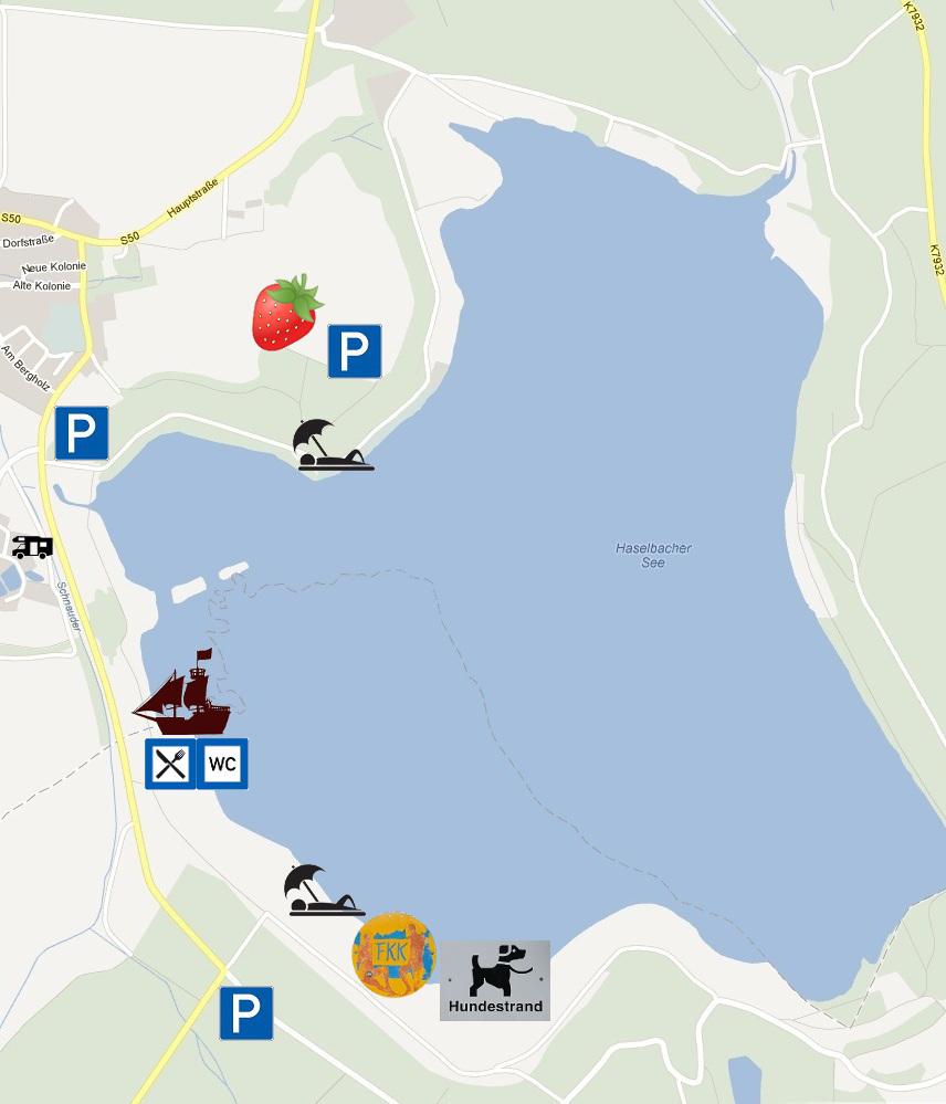 Parkplätze Haselbacher See